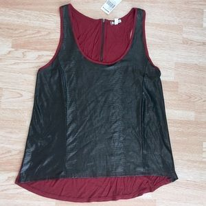 NWT Eyeshadow (Buckle) Faux Snakeskin Tank Top